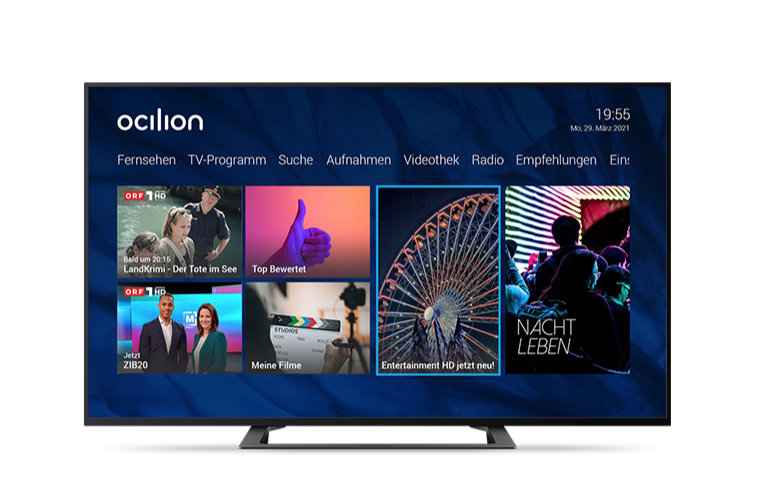 ocilion startet Entertainment HD Paket